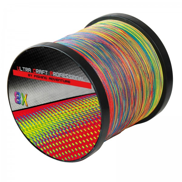 Ultra Craft Professional 8X PE Line Multicolor - 100 Meter - 0,31mm / 37,1 kg