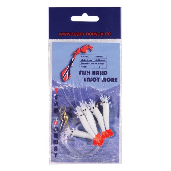 Shrimp Vorfach Pearl Weiß/Rot