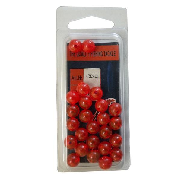 Plastic Beads 8mm - Clear rot 25 Stück