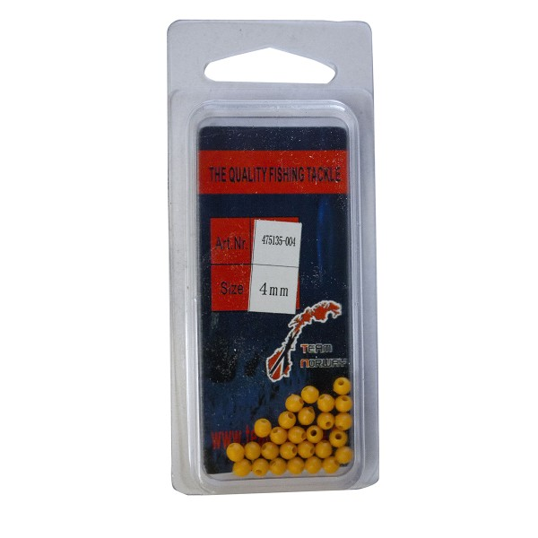 Plastic Beads 4mm - Gelb 25 Stück