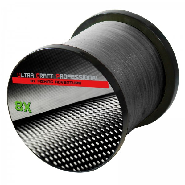 Ultra Craft Professional 8X PE Line Dark Grey - 100 Meter - 0,20 mm / 24,9 kg