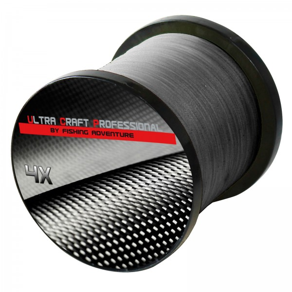Ultra Craft Professional 4X PE Line Dark Grey - 100 Meter - 0,19mm / 19,4 kg