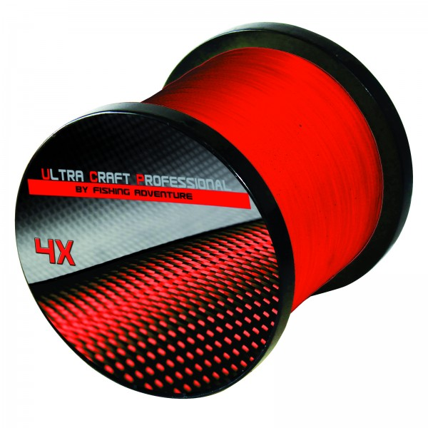 Ultra Craft Professional 4X PE Line Red - 100 Meter - 0,19mm / 19,4 kg